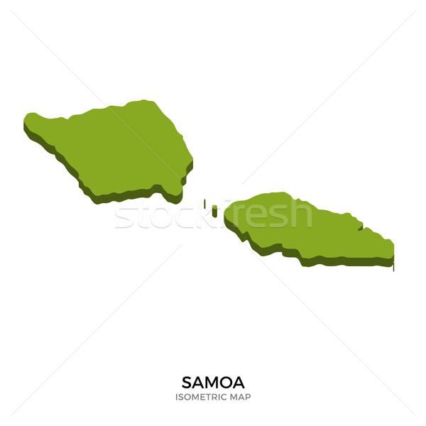 Isométrica mapa Samoa detalhado isolado 3D Foto stock © tkacchuk