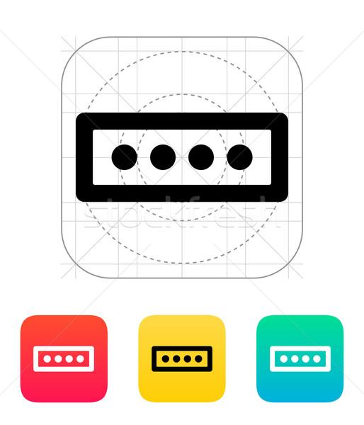 Hasło formularza ikona komputera bezpieczeństwa internetowych Zdjęcia stock © tkacchuk