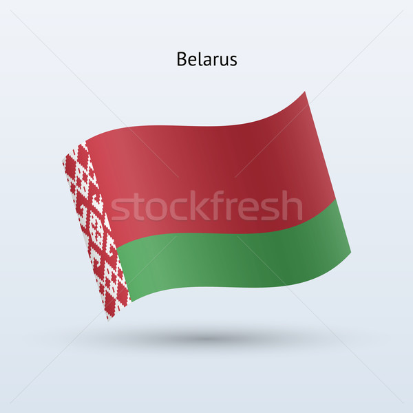 Belarus flag waving form. Vector illustration. Stock photo © tkacchuk