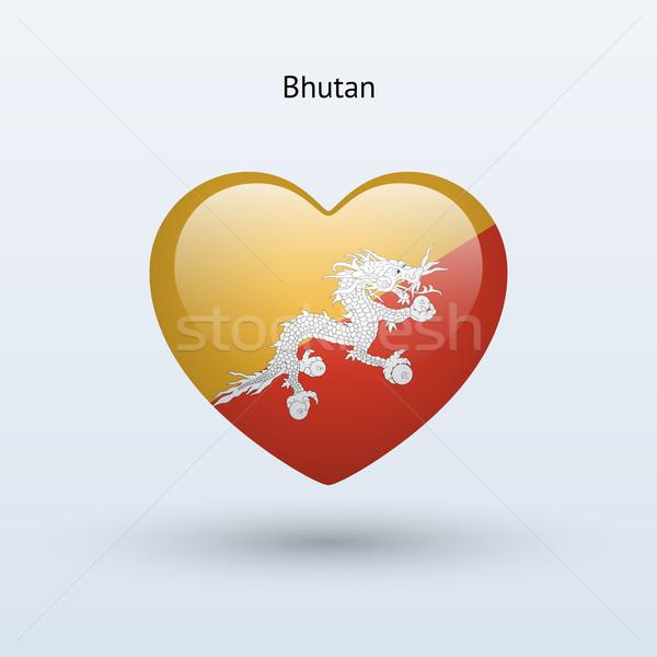 Liefde Bhutan symbool hart vlag icon Stockfoto © tkacchuk