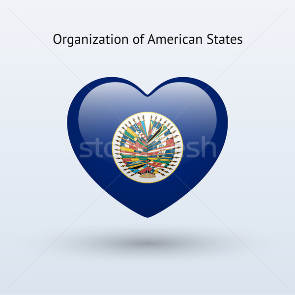 Amor organización americano símbolo corazón bandera Foto stock © tkacchuk