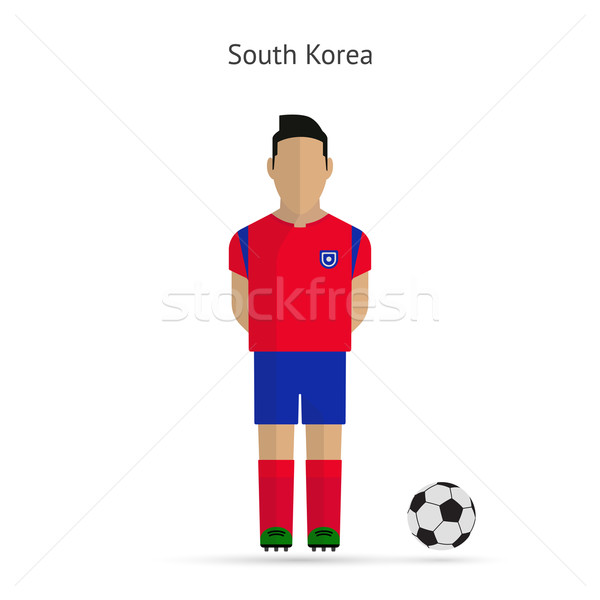 National football player. South Korea soccer team uniform. Stock photo © tkacchuk