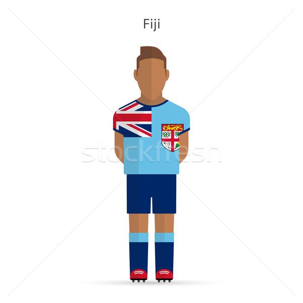 Fiji voetballer voetbal uniform abstract fitness Stockfoto © tkacchuk