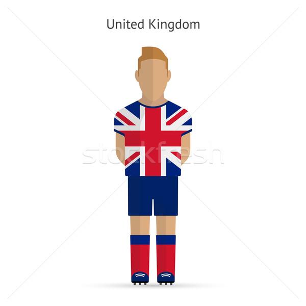 Royaume-Uni football uniforme design fitness Photo stock © tkacchuk
