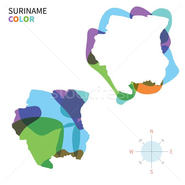 аннотация вектора цвета карта Суринам прозрачный Сток-фото © tkacchuk