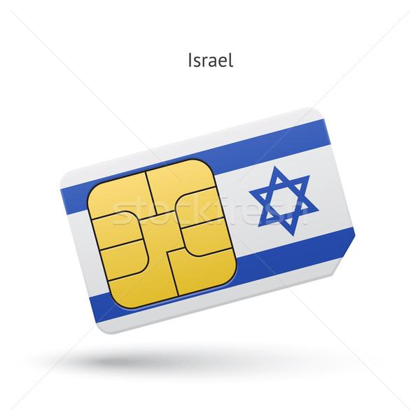 Israele cellulare carta bandiera business design Foto d'archivio © tkacchuk
