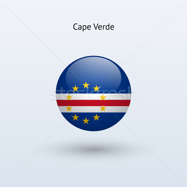 Cape Verde round flag. Vector illustration. Stock photo © tkacchuk