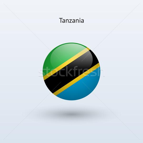 Tanzanya bayrak gri imzalamak web seyahat Stok fotoğraf © tkacchuk