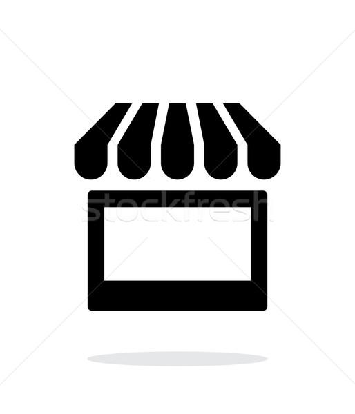 Kiosk icon on white background. Stock photo © tkacchuk
