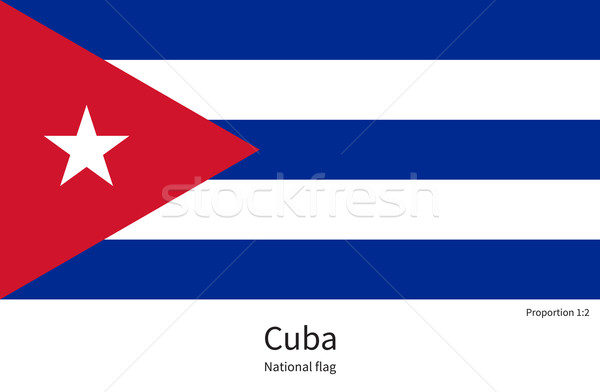 National flag of Cuba with correct proportions, element, colors Stock photo © tkacchuk