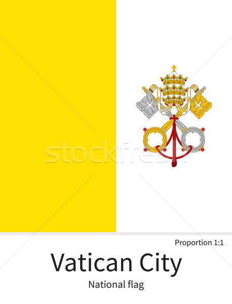 National flag of Vatican City with correct proportions, element, colors Stock photo © tkacchuk