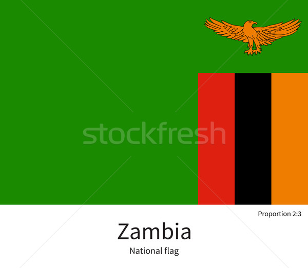 National flag of Zambia with correct proportions, element, colors Stock photo © tkacchuk