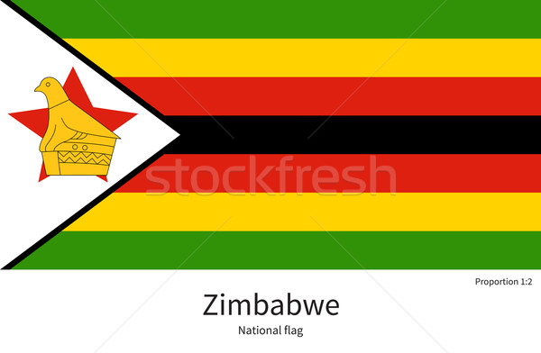 National flag of Zimbabwe with correct proportions, element, colors Stock photo © tkacchuk