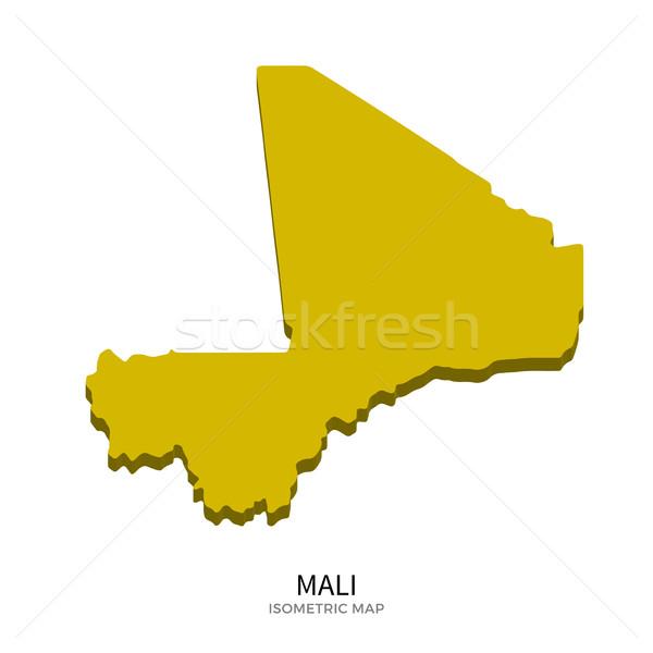 Isometric map of Mali detailed vector illustration Stock photo © tkacchuk