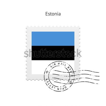 Botswana Flag Postage Stamp. Stock photo © tkacchuk
