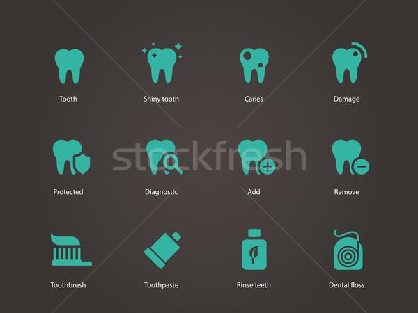 Teeth icons. Stock photo © tkacchuk