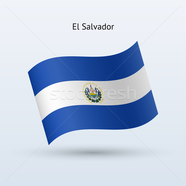 El Salvador bandeira forma cinza assinar Foto stock © tkacchuk