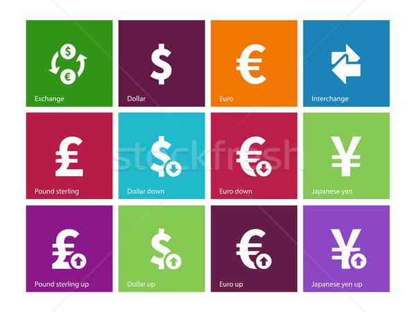 Scambio tasso icone colore business design Foto d'archivio © tkacchuk