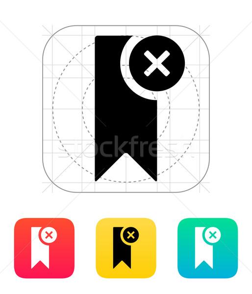 Marcar ícone livro projeto teia bandeira Foto stock © tkacchuk