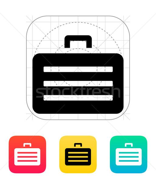 Zbroja przypadku ikona metal bezpieczeństwa podpisania Zdjęcia stock © tkacchuk