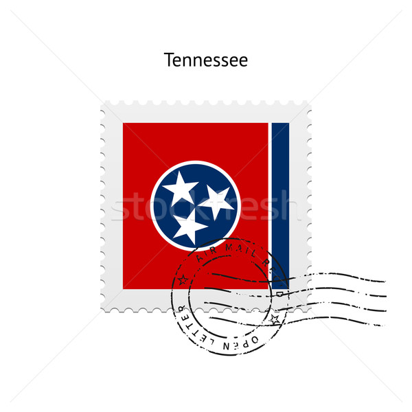 Stock photo: State of Tennessee flag postage stamp.
