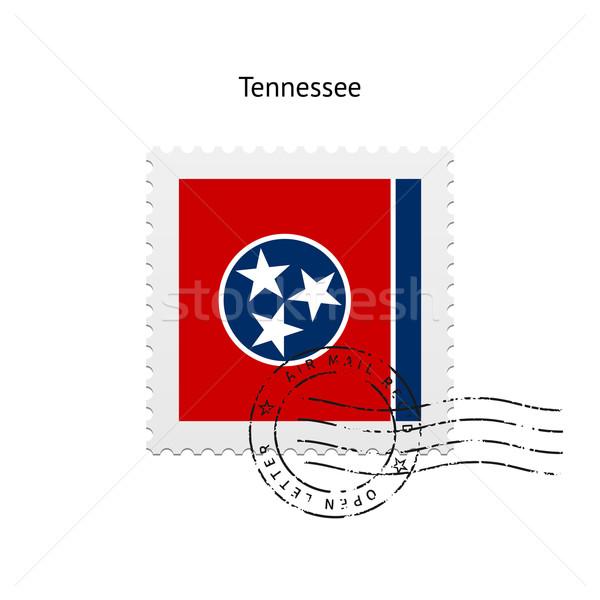 Tennessee banderą znaczek pocztowy biały podpisania list Zdjęcia stock © tkacchuk