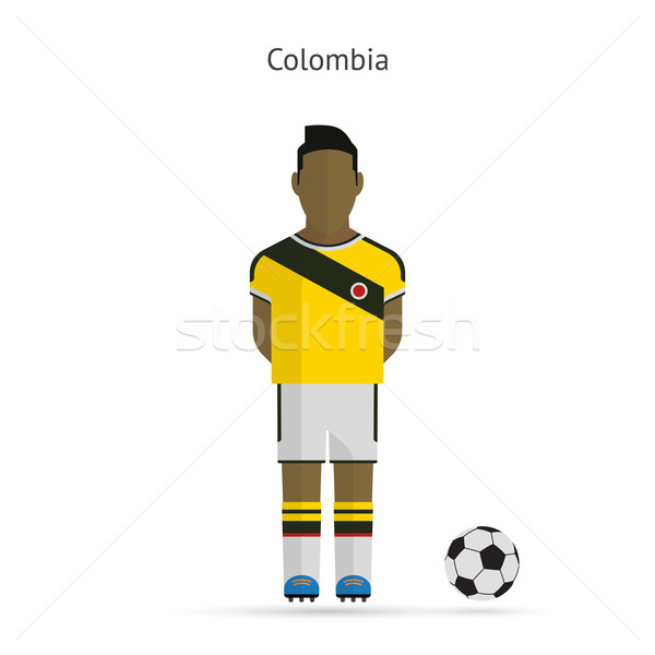 National football player. Colombia soccer team uniform. Stock photo © tkacchuk