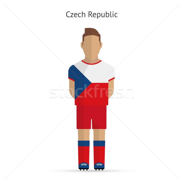Czech Republic football player. Soccer uniform. Stock photo © tkacchuk