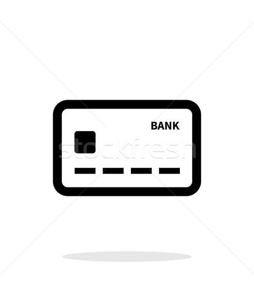 Tarjeta de débito icono blanco Internet financiar limpio Foto stock © tkacchuk