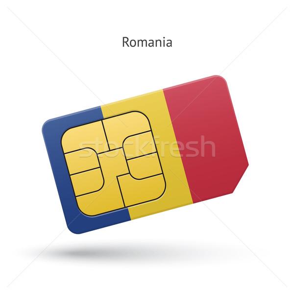 Румыния мобильного телефона карт флаг бизнеса дизайна Сток-фото © tkacchuk