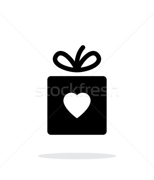 Box with heart iicon on white background. Stock photo © tkacchuk
