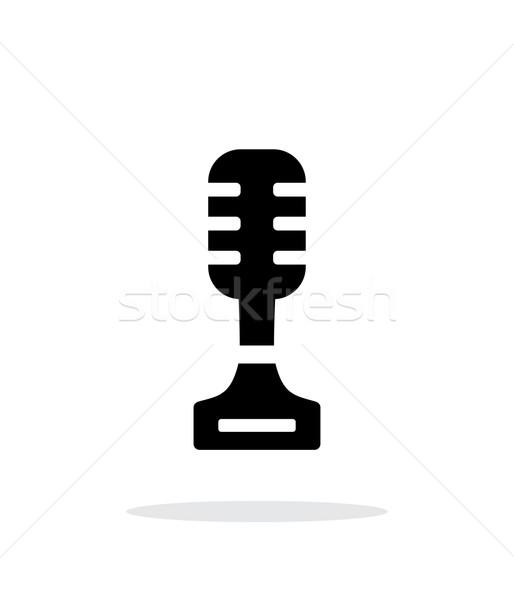 Cantante simple icono blanco música tecnología Foto stock © tkacchuk