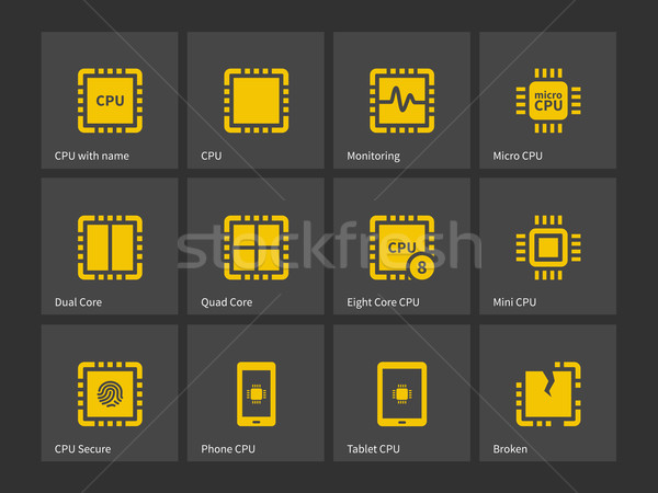 Modern computer processor icons. Stock photo © tkacchuk