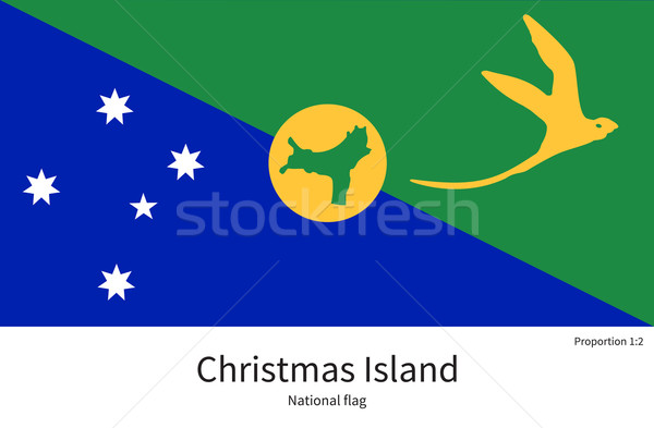 Bandeira natal ilha corrigir elemento cores Foto stock © tkacchuk