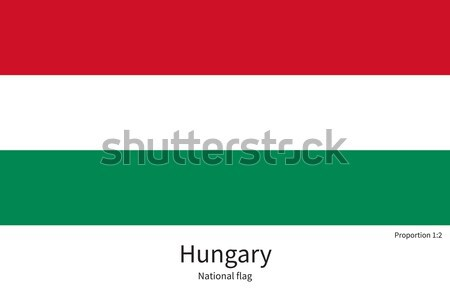 National flag of Hungary with correct proportions, element, colors Stock photo © tkacchuk