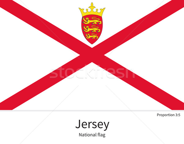 National flag of Jersey with correct proportions, element, colors Stock photo © tkacchuk
