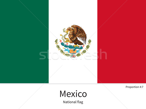 National flag of Mexico with correct proportions, element, colors Stock photo © tkacchuk