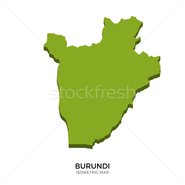 Isometric map of Burundi detailed vector illustration Stock photo © tkacchuk