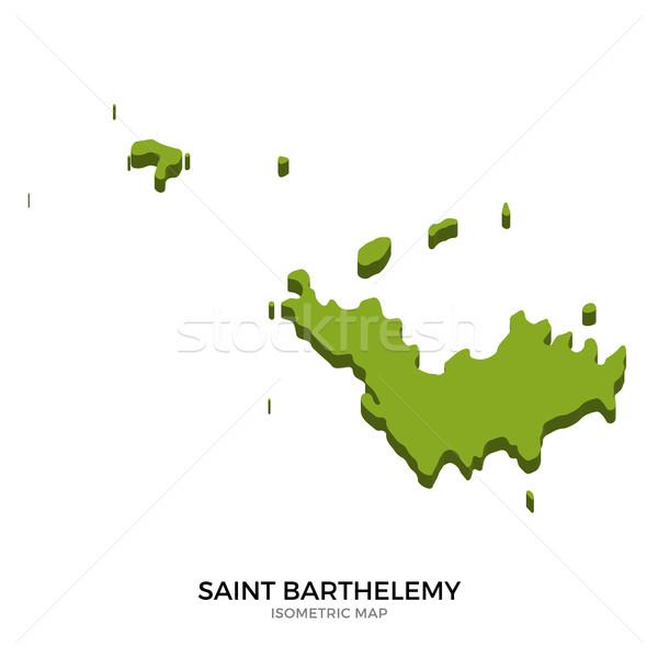 Isometric map of Saint Barthelemy detailed vector illustration Stock photo © tkacchuk