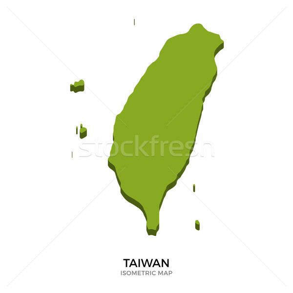 Isometric map of Taiwan detailed vector illustration Stock photo © tkacchuk