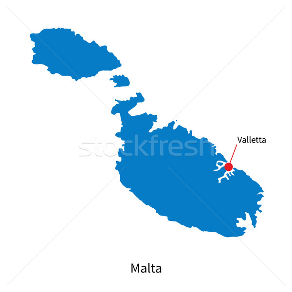 Detallado vector mapa Malta ciudad educación Foto stock © tkacchuk