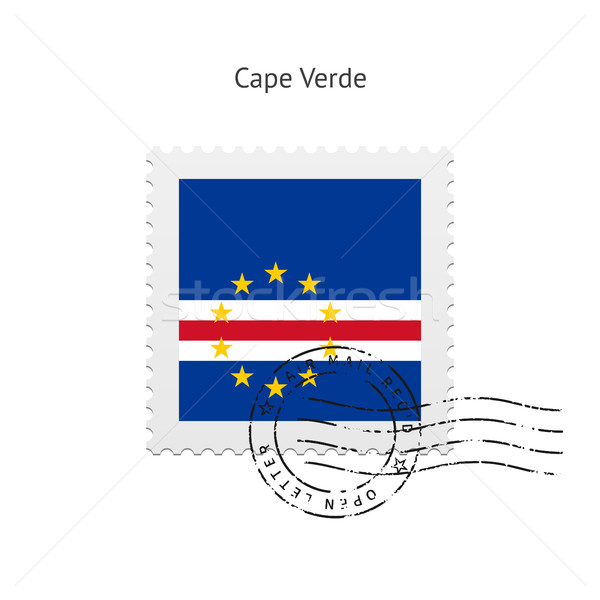 Cape Verde Flag Postage Stamp. Stock photo © tkacchuk