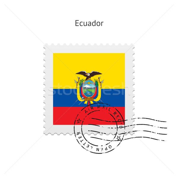 Ecuador bandiera bianco segno lettera Foto d'archivio © tkacchuk