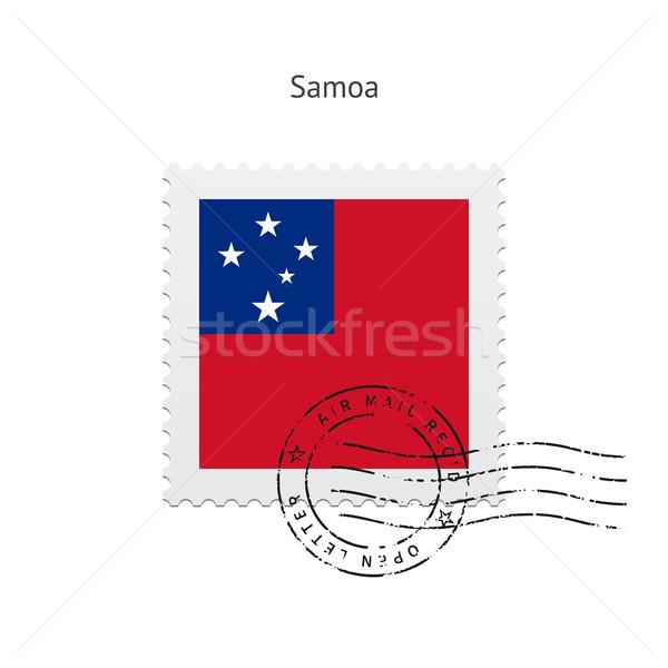 Самоа флаг почтовая марка белый знак письме Сток-фото © tkacchuk