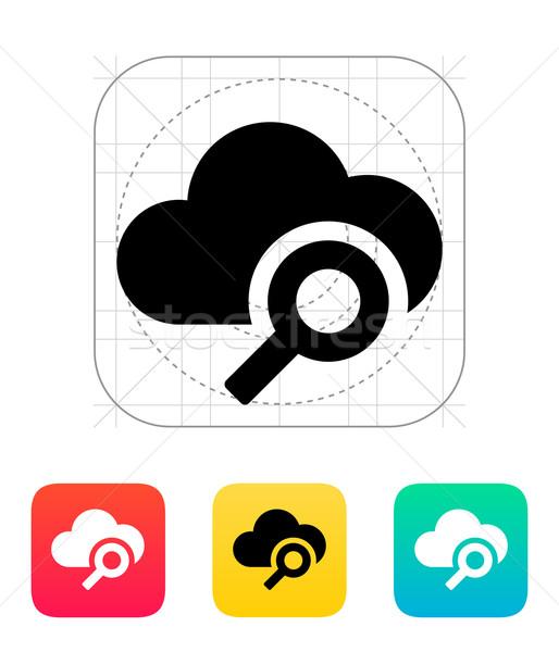 Wyszukiwania ikona sieci internetowych komunikacji Zdjęcia stock © tkacchuk