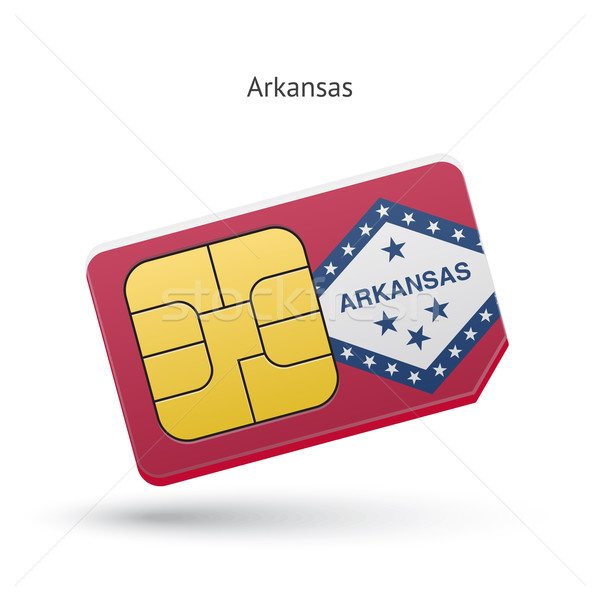 Arkansas telefon kártya zászló üzlet technológia Stock fotó © tkacchuk