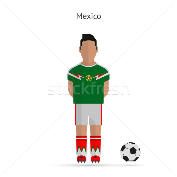 National football player. Mexico soccer team uniform. Stock photo © tkacchuk