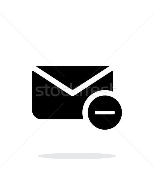 Remove mail icon on white background. Stock photo © tkacchuk