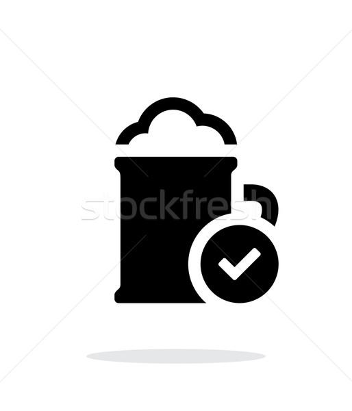 Beer mug simple icon on white background. Stock photo © tkacchuk