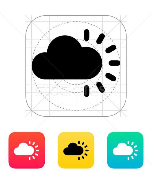 Cloudy weather icon. Stock photo © tkacchuk